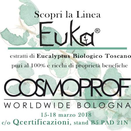 Presentazione della linea Euka c/o COSMOPROF 2018 dal 15 al 18 Marzo