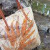 Borsa in lana cotta con stampa botanica - ecoprinting – Oligea