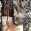 Borsa in lana cotta con stampa botanica con eucalipto biologico - ecoprinting – Oligea
