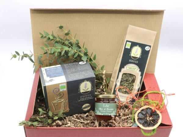 Idee regalo bio tisane e miele – confezioni regalo - Oligea
