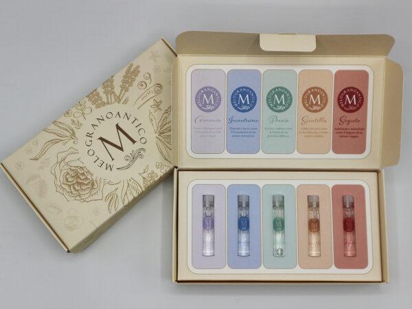Cofanetto 5 profumi melogranoantico – bioprofumeria made in tuscany
