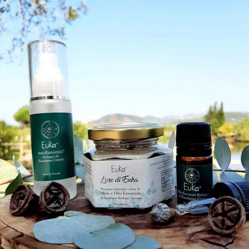 Kit Essenziale Euka – Rimedi naturali con olio essenziale di eucalipto bio