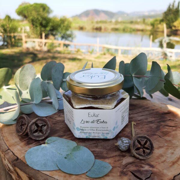 Miele balsamico biologico con olio essenziale di eucalipto italiano